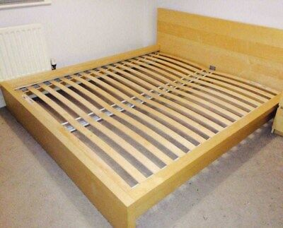 King Size Bed Frame Ikea Malm Birch Mattress Not Included