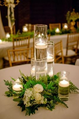 New 12 Bulk Cylinder Vases Wedding Gl Table Centerpiece Candle Holders 9 50in