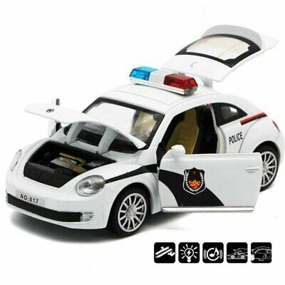 3d Bump And Go Police Car Motorcar With Flashing Top Lights Kids Toy