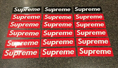 100% Authentic Supreme Box Logo Sticker Brick Classic Red Bogo 100