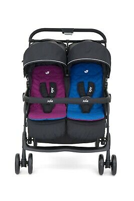 joie evalite duo double tandem baby stroller buggy pushchair black grey